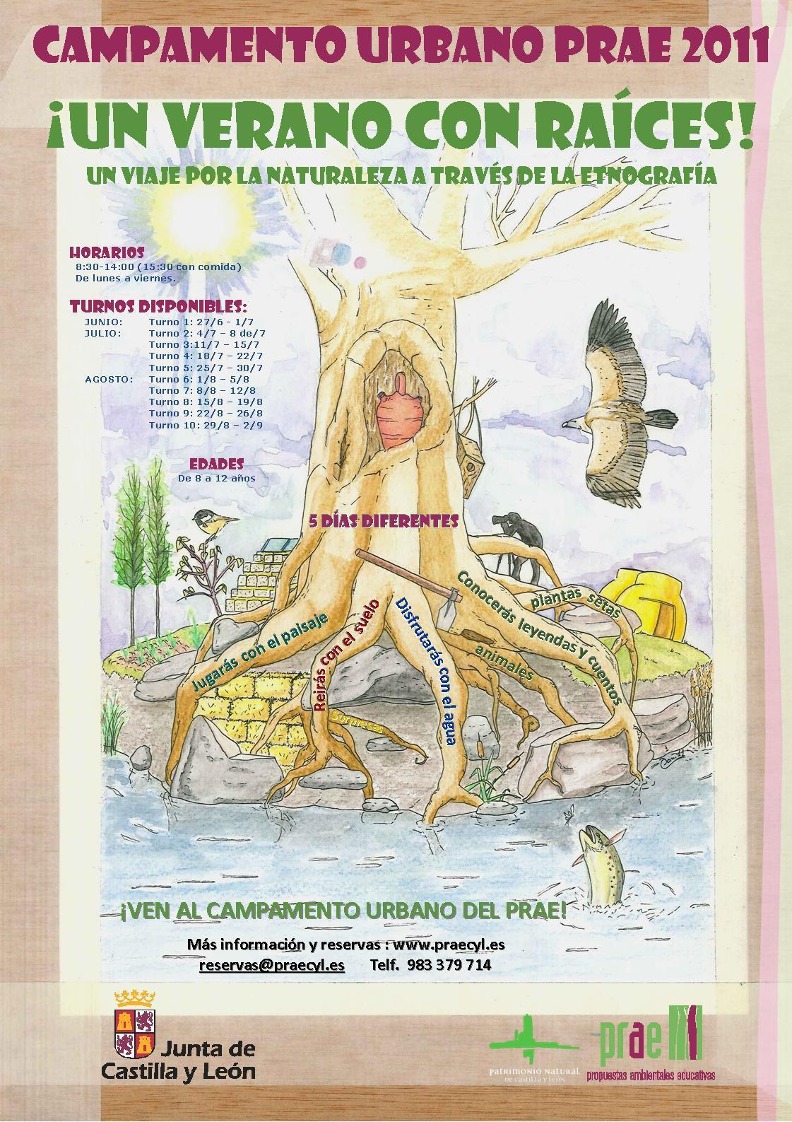 Cartel de los campamentos urbanos PRAE 2011