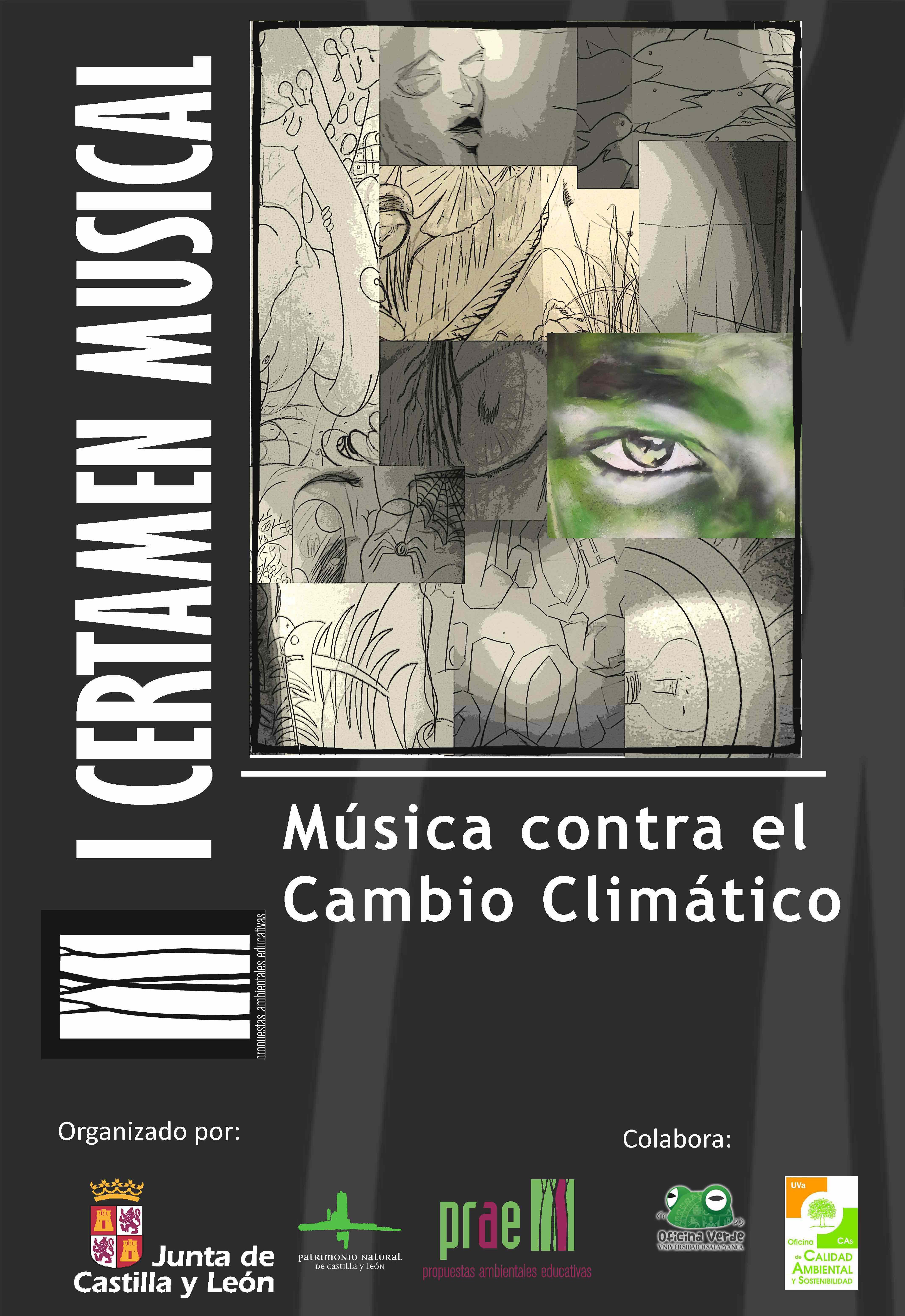 Cartel del primer certamen  de música en el PRAE contra el Cambio Climático