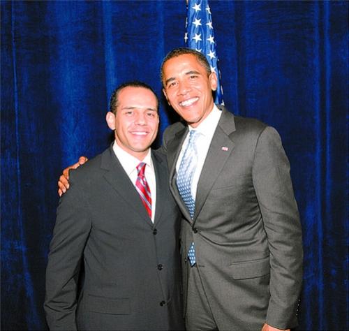 Juan Verde junto al Presidente Obama