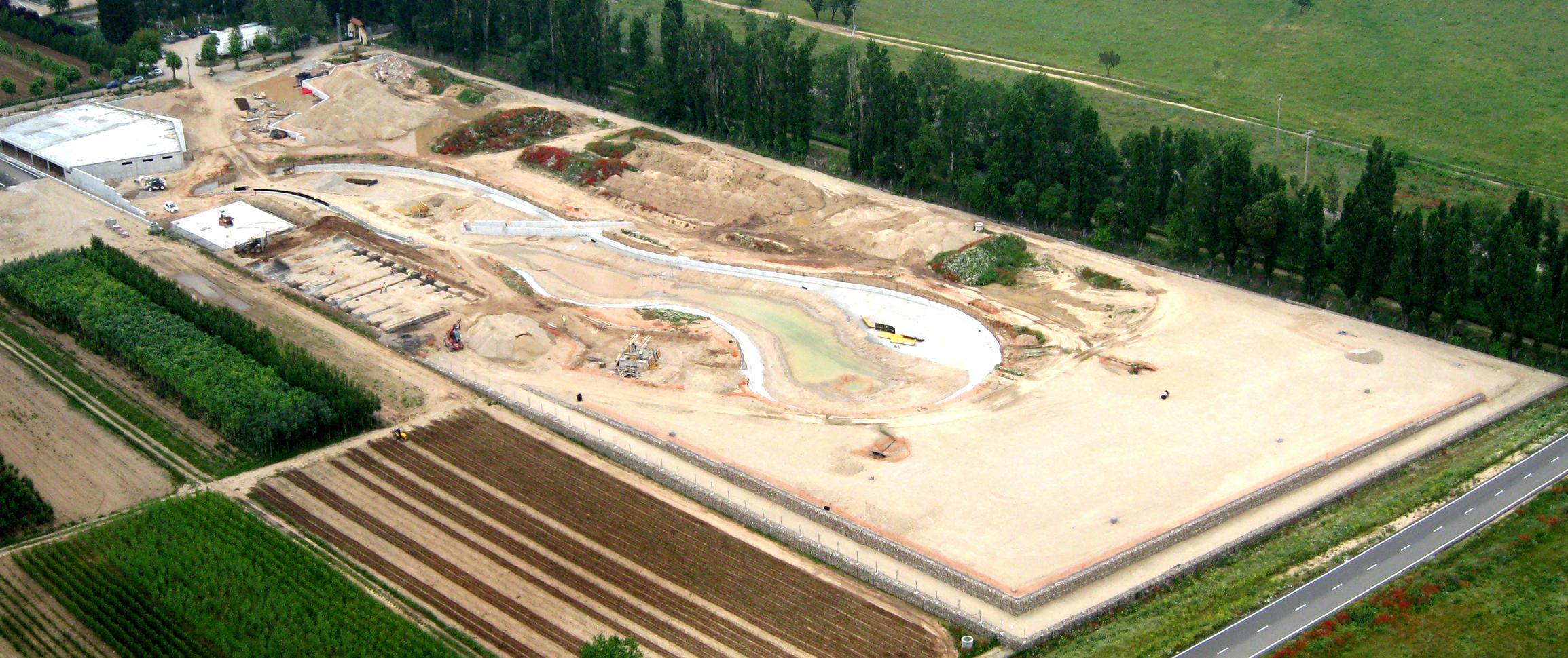 Imagen aérea del Parque en fase de construcción