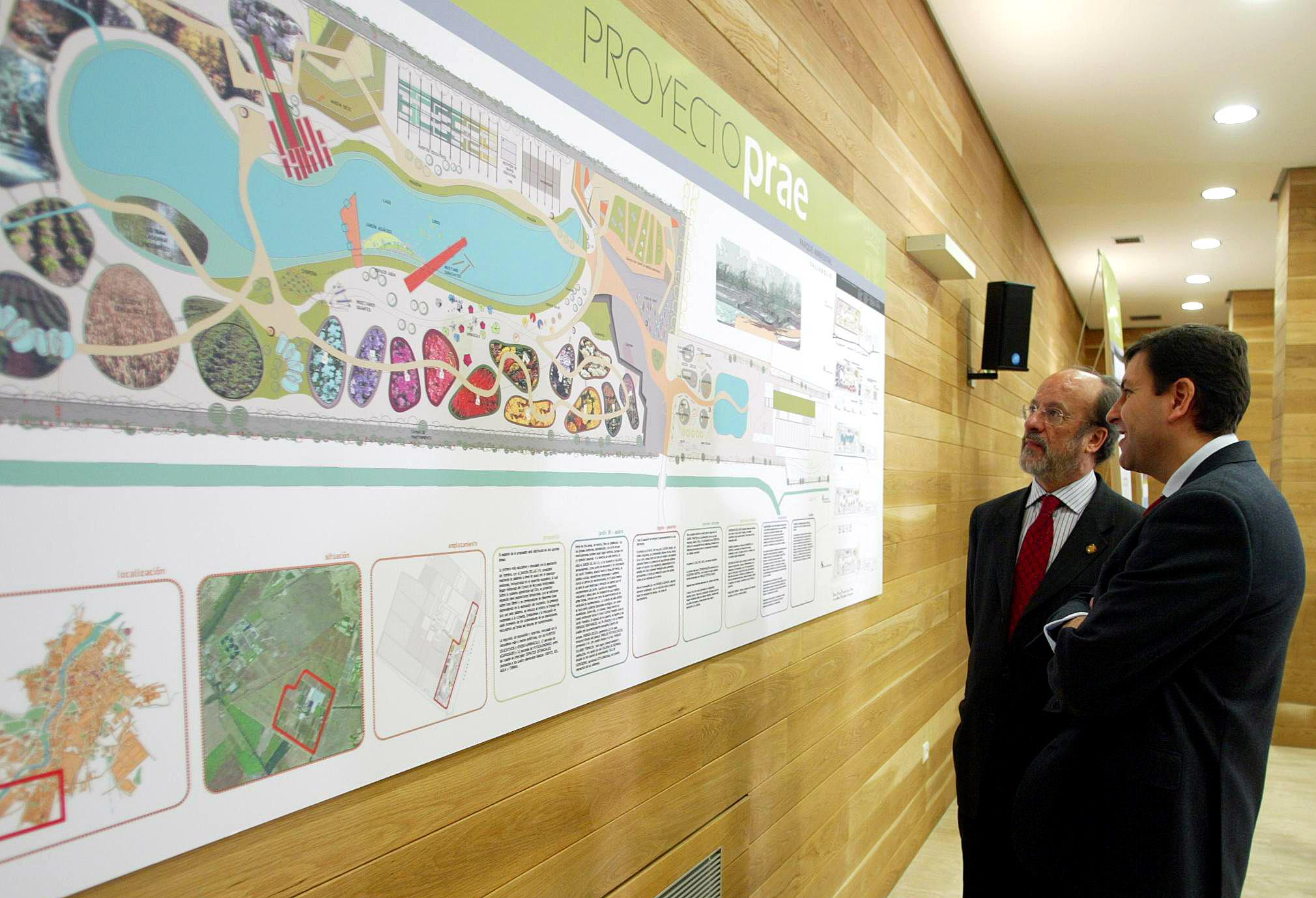 El Consejero de Medio Ambiente y el Alcalde de Valladolid en la presentación