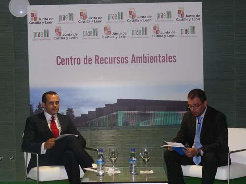 Juan Verde y el Director de la Agencia ICAL, Luis Miguel Torres