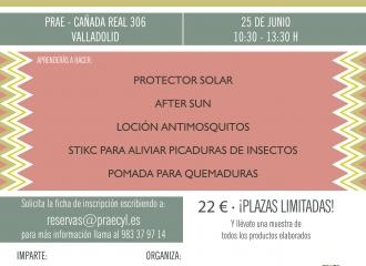 TALLER DE COSMÉTICA NATURAL PARA EL VERANO