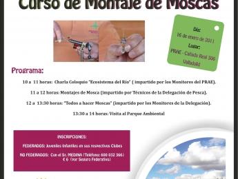 El PRAE organiza, en colaboración con la Delegación de Pesca y Casting de Valladolid, un curso de montaje de mosca