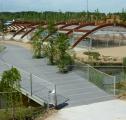 El parque ambiental. Los Huertos educativos y el Vivero-humbráculo