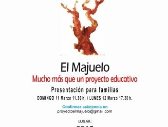 Presentación para familias del nuevo proyecto de innovación educativa 3-6. Pedagogía Activa-El Majuelo