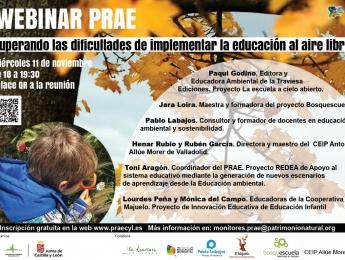 Webinar PRAE. Superando las dificultades de implementar la educación al aire libre.